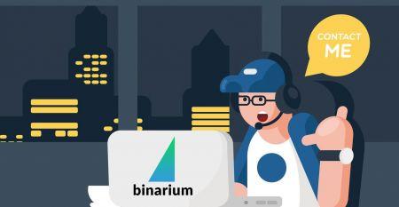 Binarium सपोर्ट से कैसे संपर्क करें